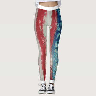 Patriotic Paint by Noah Leggings