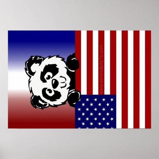 Patriotic Panda Print
