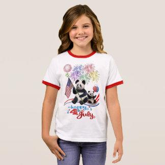 PATRIOTIC PANDAS RINGER T-Shirt
