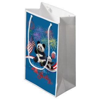PATRIOTIC PANDAS SMALL GIFT BAG