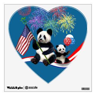 Patriotic Pandas Wall Decal