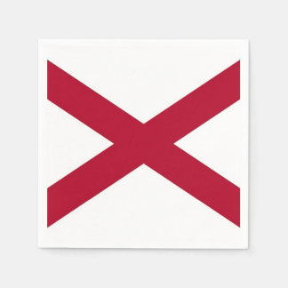 Patriotic paper napkins with flag of Alabama, USA