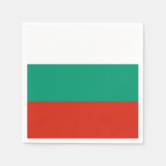 Patriotic paper napkins with flag of Bulgaria