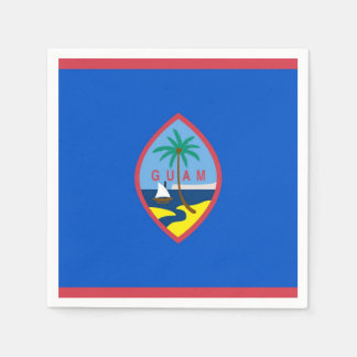 Patriotic paper napkins with flag of Guam