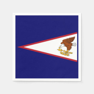 Patriotic paper napkins with flag of Samoa, USA