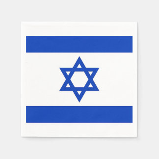 Patriotic paper napkins with Israel flag