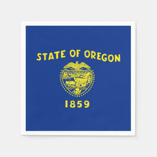 Patriotic paper napkins with Oregon flag