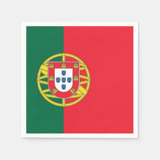 Patriotic paper napkins with Portugal flag