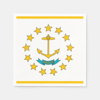 Patriotic paper napkins with Rhode Island flag