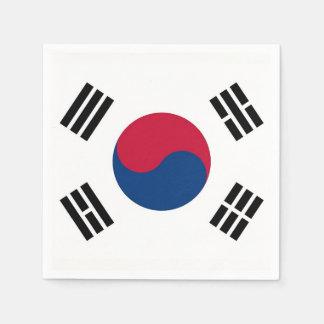 Patriotic paper napkins with South Korea flag