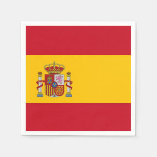 Patriotic paper napkins with Spain flag