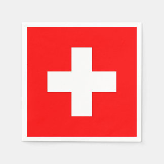 Patriotic paper napkins with Switzerland flag