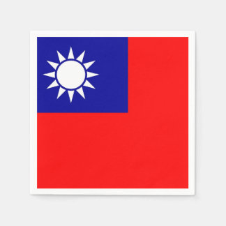 Patriotic paper napkins with Taiwan flag