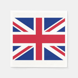 Patriotic paper napkins with United Kingdom flag