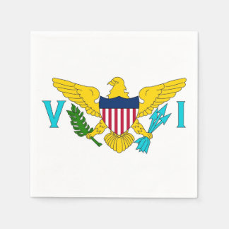 Patriotic paper napkins with Virgin Islands flag