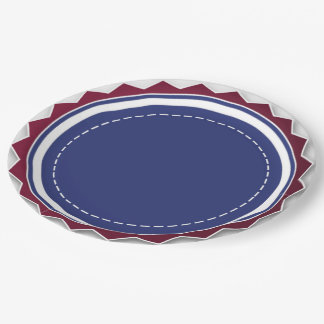 "Patriotic Paper Plates 9"" 9 Inch Paper Plate"