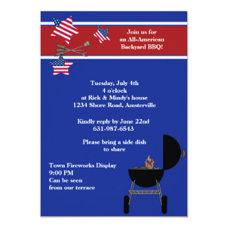 Patriotic Party BBQ Invitation