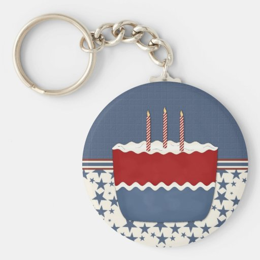Patriotic Party Invitation (6) Keychain