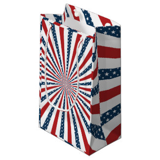 Patriotic pattern small gift bag