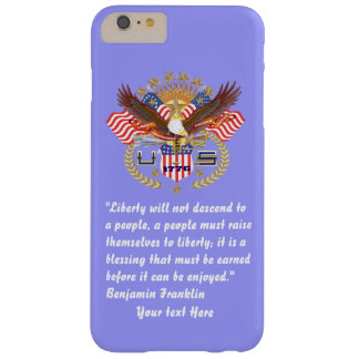Patriotic Peace Forest Blue Pastel Barely There iPhone 6 Plus Case