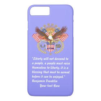 Patriotic Peace Forest Blue Pastel iPhone 7 Plus Case