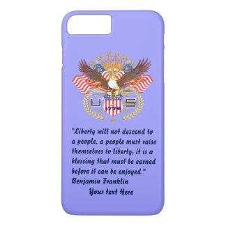 Patriotic Peace Forest Blue Pastel iPhone 8 Plus/7 Plus Case
