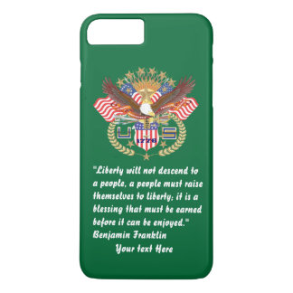 Patriotic Peace Forest Green iPhone 7 iPhone 7 Plus Case