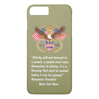 Patriotic Peace Forest Khaki iPhone 8 Plus/7 Plus Case