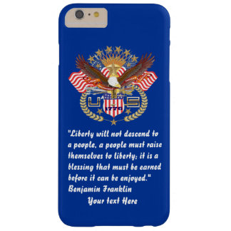 Patriotic Peace Forest Navy Blue Barely There iPhone 6 Plus Case