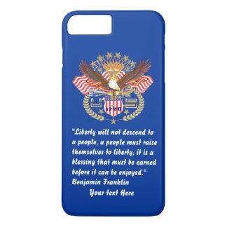Patriotic Peace Forest Navy Blue iPhone 7 Plus Case