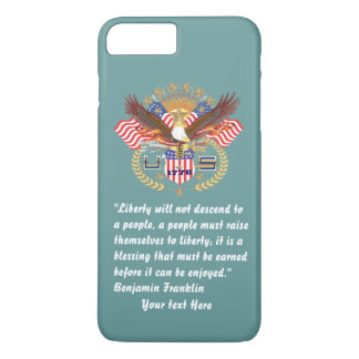 Patriotic Peace Forest Ocean Green iPhone 8 Plus/7 Plus Case