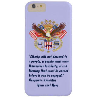 Patriotic Peace Forest Powder Blue Barely There iPhone 6 Plus Case