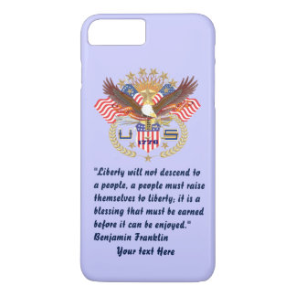 Patriotic Peace Forest Powder Blue iPhone 8 Plus/7 Plus Case