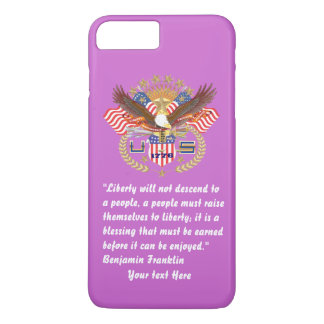Patriotic Peace Forest Violet iPhone 7 Plus Case