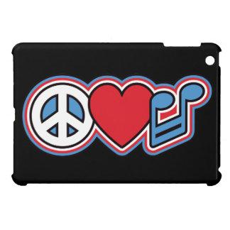 Patriotic Peace Love Music iPad Mini Cover