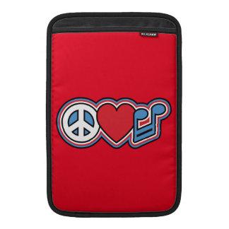 Patriotic Peace Love Music MacBook Air Sleeves