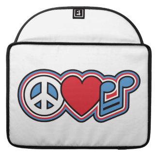 Patriotic Peace Love Music MacBook Pro Sleeve