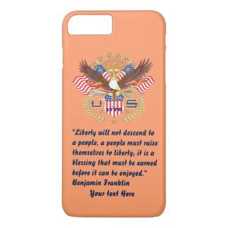 Patriotic Peace Peach iPhone 7 Plus Case