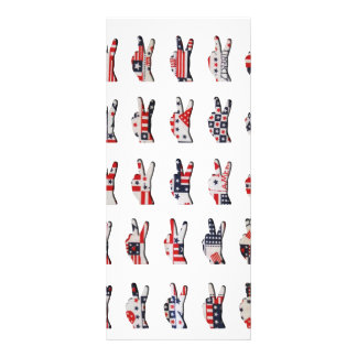 Patriotic Peace Personalized Rack Card