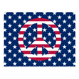 Patriotic Peace Postcard
