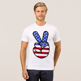 PATRIOTIC PEACE SIGN, 4TH JULY t-shirts