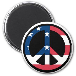 Patriotic Peace Sign Magnet