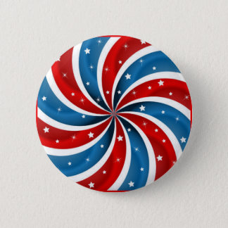 Patriotic Peppermint 2 Inch Round Button