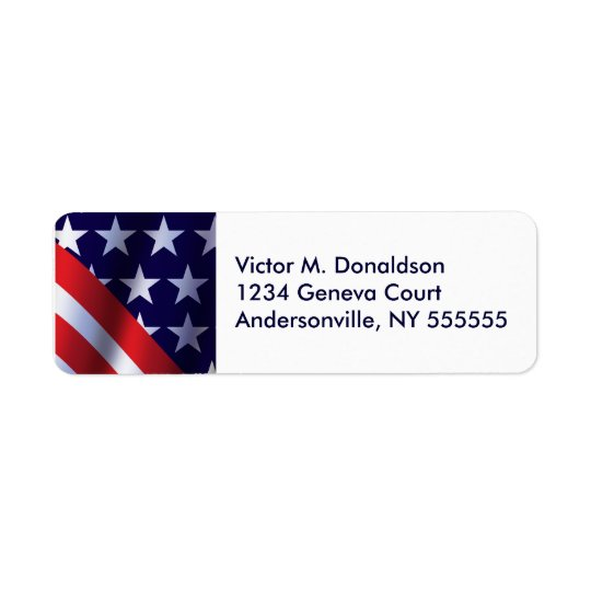 Patriotic  Personalized Return Address Labels