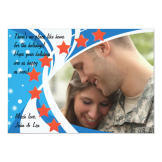 Patriotic Photo Holiday Card Announcements