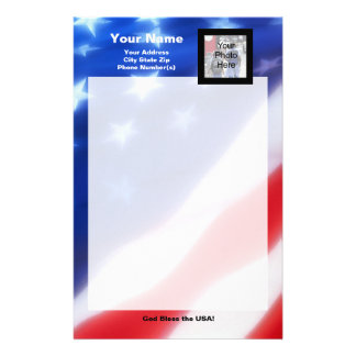 Patriotic Photo Stationery