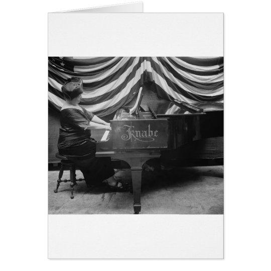 Patriotic Pianist, 1920s Card