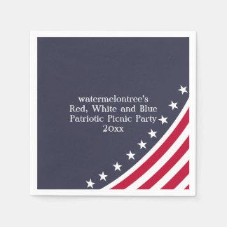 Patriotic Picnic Party Personalized Paper Napkins