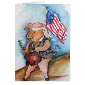 Patriotic Pig Card