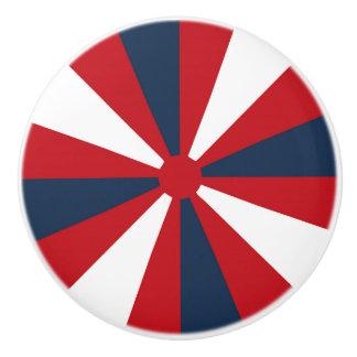 Patriotic Pinwheel Ceramic Knob